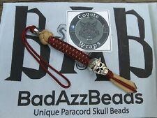 Custom 550-Paracord,(FIRE-FIGHTER) Knife Lanyards,Unique BadazzBead Originals