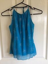 INTANGIBLE Turquoise Blue Dress (separate sparkle top and skirt) Size 10 Formal