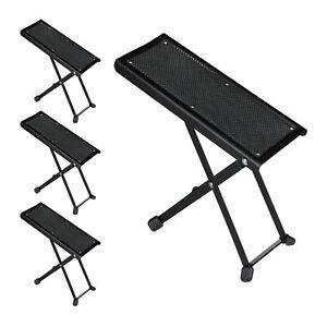 4 x Fußbank für Gitarre, Fußständer, Gitarrenbank, Fußstütze, Gitarrenfußbank