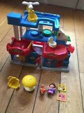 Fisher Price Little People Vintage Garage Car Wash Playhouse 1996 Toy + Figures