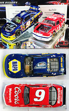 AUTOGRAPHED CHASE & BILL ELLIOTT NASCAR CHAMPIONS 2-CAR SET 1/24 ACTION