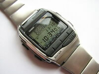 NEW in BOX Vintage 1998 NOS CASIO HBX-100 LCD wrist computer watch complette set