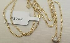 Solid 9ct Yellow Gold Solitaire Diamond Pendant Necklace 0.50ct Bezel Rub Over