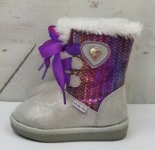 Stride Rite Toddler Disney Frozen Cozy Mid Calf Boot 5 Purple White