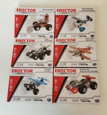 🔥 Erector by Meccano Spin Master Engineering & Robotics Lot of 6 New