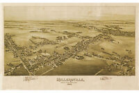 Map of Millersville, Lancaster Co PA; Antique Map; Pictorial Map, 1894