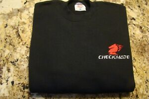 Checkmate Knight Boat Logo Black w/Red + White Size Large T-Shirt New