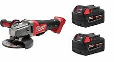 "M18 FUEL 4-1/2""/5"" Grinder Milwaukee 2780-20 + (2) 5.0AH Batteries 48-11-1850"