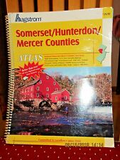 VINTAGE HAGSTROM ATLAS MAP OF SOMERSET HUNTERDON MERCER COUNTIES NJ 2004