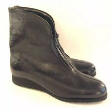 Mid Century Size 6 Rubber Boots Ankle Lined Wedge Made Usa Vintage Waterproof