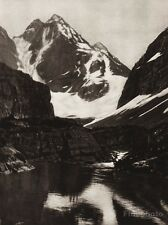 1925 Vintage CANADA ~ Lake McArthur British Columbia Glacial Mountain Photo Art