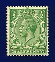 1924 SG418 ½d Yellow Green N33(6) Mounted Mint Hinged Cat £20 cnrl