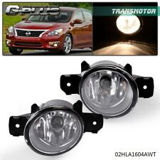 left & Right Fit For Nissan Altima Maxima Rogue Sentra Clear Lens Fog Lights