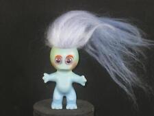 "1964 3"" VTG L. KHEM MOON GOON BLUE BODY W/BLUE PURPLE HAIR & PURPLE EYES u527"