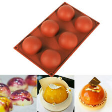 New listing 5Pcs/set Half Ball Shape Silicone Mold Baking Chocolate Candy Mousse Cake Moulds