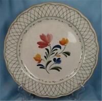 Nikko Hampton Dinner Plate Provincial Designs 915 Red Blue Flowers As Is O