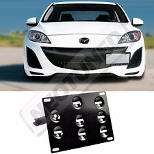 Rev9 2010-2014 Mazda3 License Plate Mounting Adapter Kit Bracket Holder Tow Set