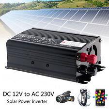 Solar Power Inverter 12V DC To 230V AC Modified Sine Wave Converter