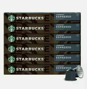 60 Starbucks Espresso Roast by Nespresso, 10 Capsules x 6 Pack Coffee EX 4/22/21