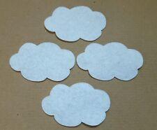 x 20 Felt cloud Embellishments.Die cuts