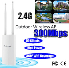 300Mbps AP WLAN Access Point Dual Band 2.4GHz Wireless Outdoor Range Extender