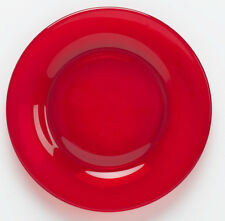 Plate Bread / Fruit Saucer - Red Glass - Mosser USA - Small