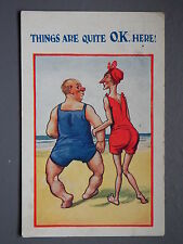 R&L Postcard: HB Comic, Bow Hairy Legs Man, Things are Quite OK Here