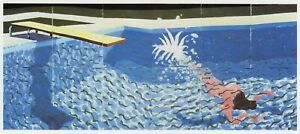 Diver and Board David Hockney print in 10 x 12 inch mount ready to frame SUPERB