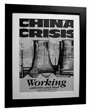 CHINA CRISIS+Fire And Steel+POSTER+AD+RARE ORIGINAL 1983+FRAMED+FAST GLOBAL SHIP