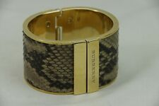 Burberry Painted Python Cuff Bracelet Gold Tone