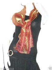 Etole/foulard/chale en organza, idéal avec robe de soirée DORé-ORANGé