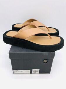 Tony Bianco Women's Ives Thong Sandal Tan Como Leather US 9