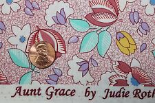 """""""TRIBUTE TO AUNT GRACE"""" QUILT FABRIC CIRCA 1930's BTY FOR MARCUS 6257-0376"""