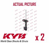 2 x FRONT AXLE SHOCK ABSORBERS PAIR STRUTS SHOCKERS KYB OE QUALITY 338734