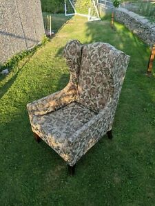Vintage Wingback Armchair - Perfect Upholstery Project