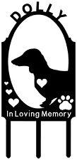 DACHSHUND Doxie Weiner Dog Memorial Pet Grave Marker Cemetery Plasma Metal Art