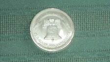 """ONE TROY OUNCE.999 FINE SILVER """"LIFE LIBERTY HAPPINESS ROUND FROM LIBERTY SILVER"""