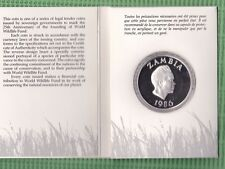 Republic of Zambia, 25 Jahre WWF, 10 Kwacha Silber Proof (M5031)