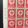 1942 WWII  FULL Stamp Sheet Germany PF12 Third Reich Symbols Hitler Swastika WW2