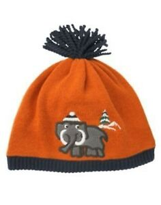 GYMBOREE ARCTIC TRAILS WOOLLY MAMMOTH BEANIE POM SWEATER HAT 0 12 24 4T 5T NWT