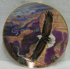 """Franklin Mint Fine Bone China Plate """" Lord Of The Canyon """""""