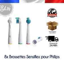 8 Brossettes Sonicare SENSIFLEX compatibles brosse à dents Philips