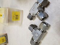 """HAM-LET REDUCING TEE 764LR SS 3/4"""" x 1/2"""" x 1/2"""" 2 pieces new"""