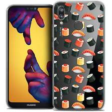 "Coque Crystal Gel Pour Huawei P20 LITE (5.84"") Souple Foodie Sushi"