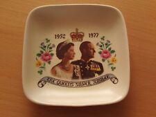 Vintage Guild Craft (Poole) Ltd Silver Jubilee Royal Ceramic Pin Dish~1952-1977.