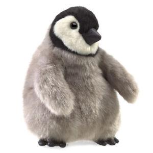 NEW PLUSH SOFT TOY Folkmanis 3126 Baby Emperor Penguin Full Body Hand Puppet