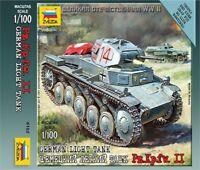 Zvezda 6102 - 1/100 Wargame Addon Deutscher Panzer II - Neu