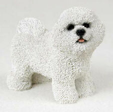 Bichon Frise Hand Painted Collectible Dog Figurine Statue