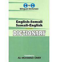 English-Somali & Somali-English One-To-One Dictionary-ExLibrary