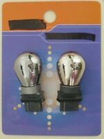 3157, 3057,  3357, 3457, 3156 Silver Chrome Natural Amber Bulb